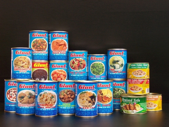 Canned food processed by two tips